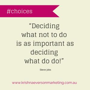 Marketing Choices