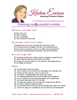 Your Plan Your Website Checklist