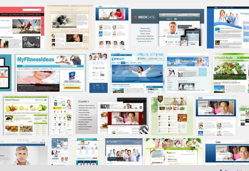WordPress Themes - Blue Health