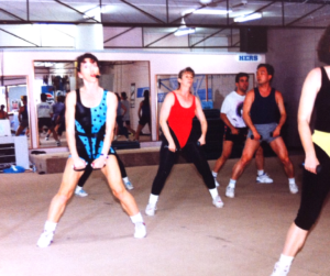 Krishna Everson taught aerobics during the 90s