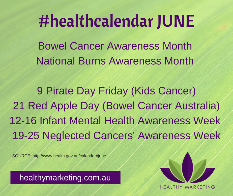 Health Calendar June 2017