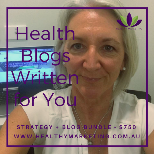 Health blogs written for you package